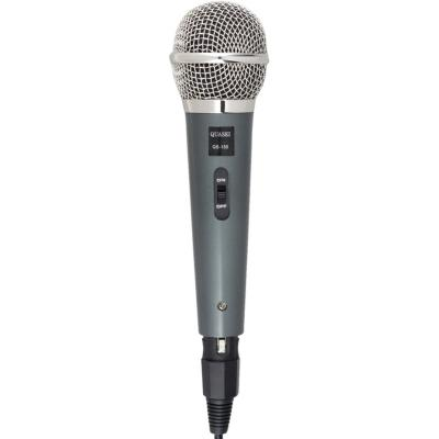 Micrófono negro cromado