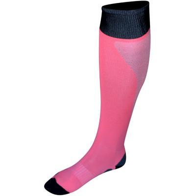 Media fútbol mujer fluor rosa/negro t 9-10
