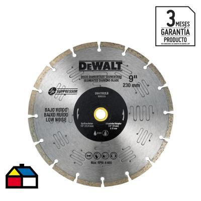 "Disco diamantado segmentado 9"" bajo ruido"
