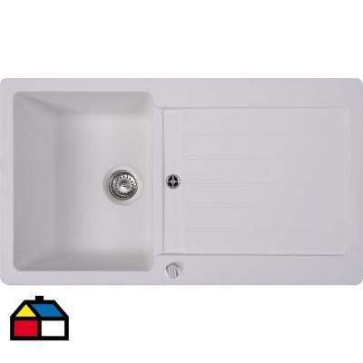 Lavaplatos 1 cubeta 86x50 cm blanco