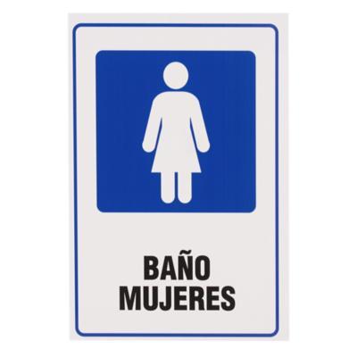 Señalética Baño Mujeres
