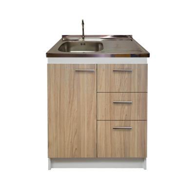 kit mueble madera cajones derecho+ 1puerta 80x50 cm
