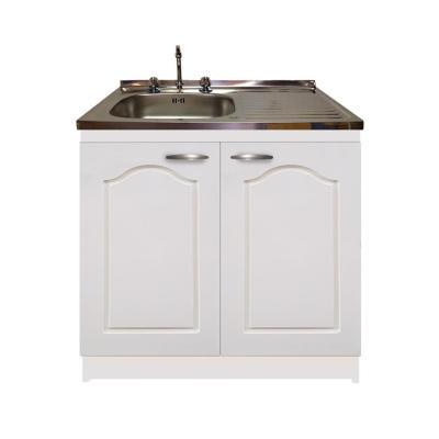 kit mueble económico blanco lavaplatos derecho 100x50 cm