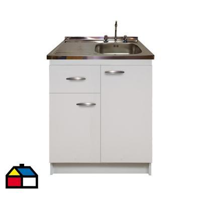 kit mueble económico 1 cajón izquierdo +lavaplatos izquierdo 80x50 cm