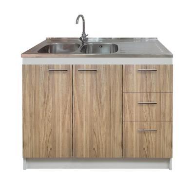 kit mueble madera cajones derecho+2 puertas 120x50 cm