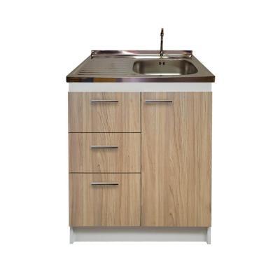 kit mueble madera cajones izquierdo+ 1 puerta 80x50 cm
