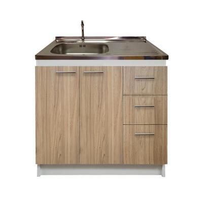kit mueble madera cajones derechos+1 puerta 100x50 cm