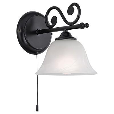 Apliqué Murcia acero 1 luz 40W E14 negro