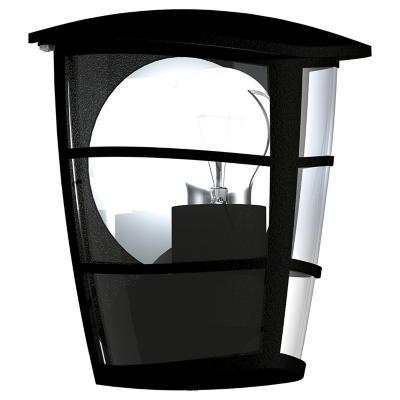 Apliqué Aloria Muro exterior 1 luz 60W E27 negro