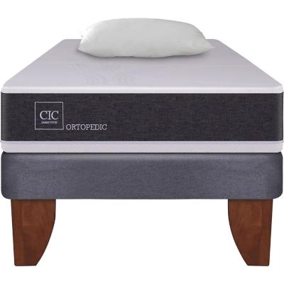 Cama Europea New Ortopedic 1 plaza  + almohada