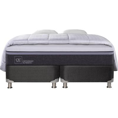 Box Spring Ortopedic Advance King  + 2 almohadas + plumón