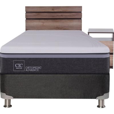 Box Spring Ortopedic Advance 1.5 plazas  + muebles