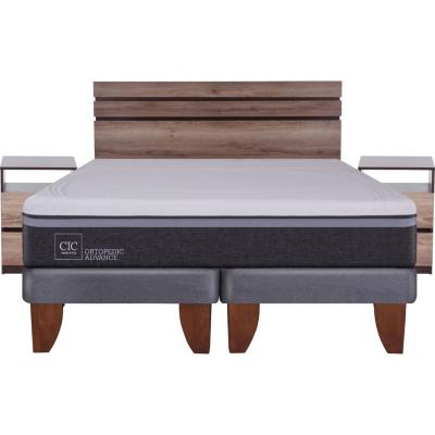 Cama Europea Ortopedic Advance King  + muebles