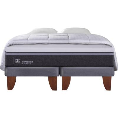 Cama Europea Ortopedic Advance King  + 2 almohadas + plumón