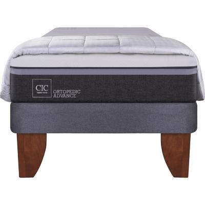 Cama Europea Ortopedic Advance 1.5 plazas  + plumón