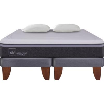 Cama Europea Ortopedic Advance 2 plazas BD + 2 almohadas