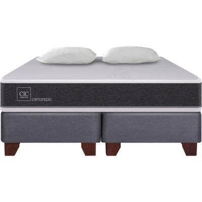 Box Spring New Ortopedic King  + 2 almohadas