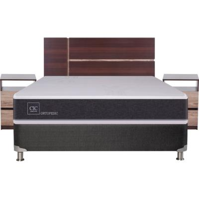 Box Spring New Ortopedic 2 plazas BN + muebles