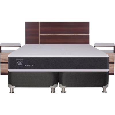 Box Spring New Ortopedic 2 plazas BD + muebles