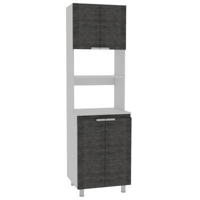Mueble de cocina 60x51,3x205 cm Gris/blanco