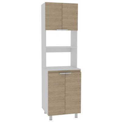 Mueble de cocina 60x51,3x205 cm Oak/blanco
