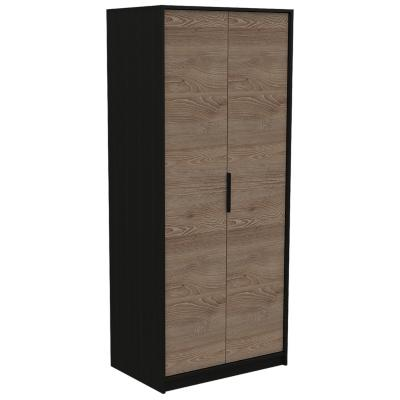 Clóset 2 puertas 80x52,3x189 cm Wengue/miel