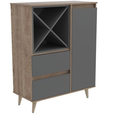 Bar 85,6x40x110 cm Miel/gris