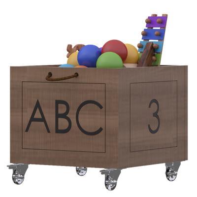 Caja para juguetes abc 39x25x39 cm