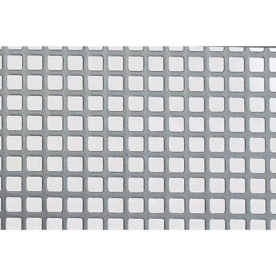 Lamina acero perforado cuadrado mm.500x400