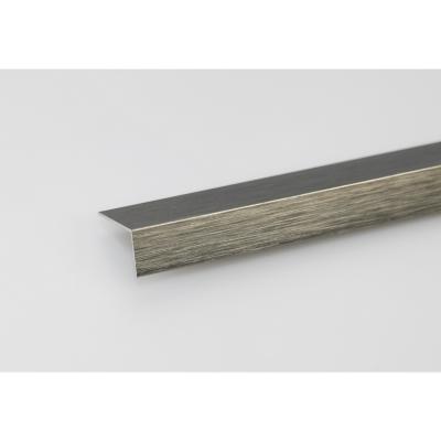 Angulo aluminio titanio cepillado 30x30 1 mt