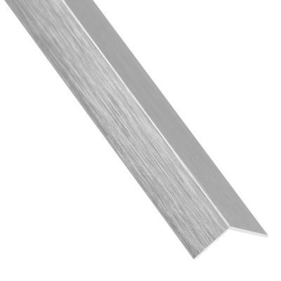 Angulo aluminio plata cepillado 30x30 1 mt