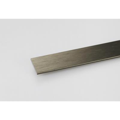 Pletina aluminio titanio cepillado 20x2 1 mt