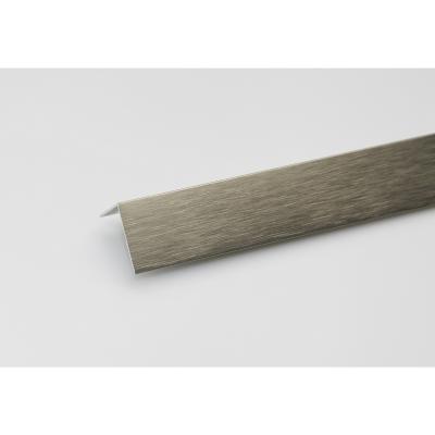 Angulo L aluminio titanio cepillado 20x10 1 mt