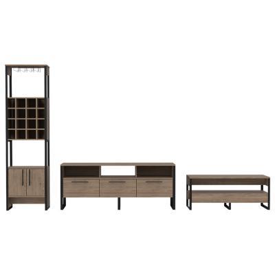 """Set rack de TV 60"""" + bar + mesa de centro miel"""