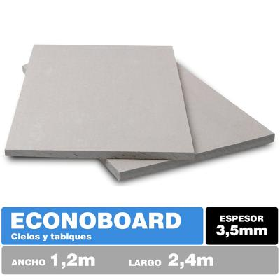 3,5 mm 120 x240 cm Placa de fibrocemento textura lisa Econoboard