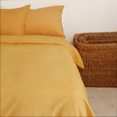 Funda para plumón + Almohada amarillo 2 plazas
