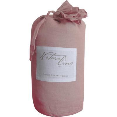 Funda para plumón + Almohada rosado 2 plazas