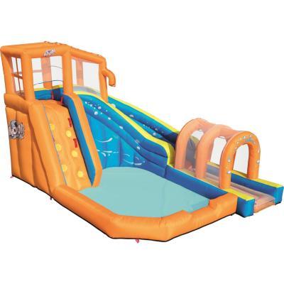 Parque acuatico con escaladora inflable