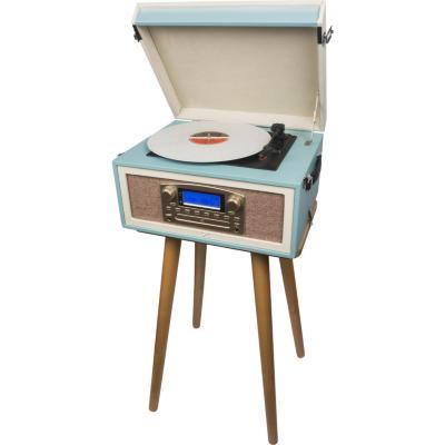 Tocadisco maleta retro bt/cd/usb/fm/aux/ mueble