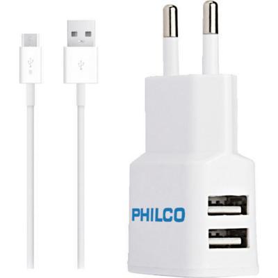 Cargador 220 v  doble micro USB 2,1A