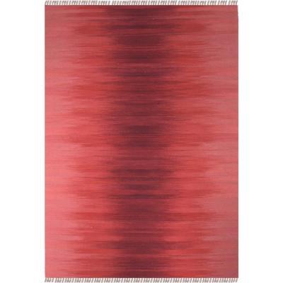 Alfombra Kelim Rainbow 80X120 cm Rojo