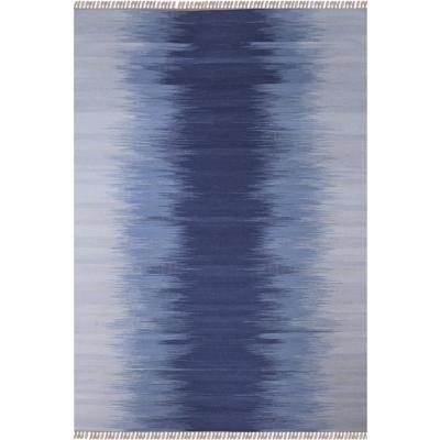 Alfombra Kelim Rainbow 70X240 cm Azul