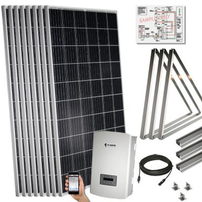 Kit solar 2,2 kwp para techo inclinado