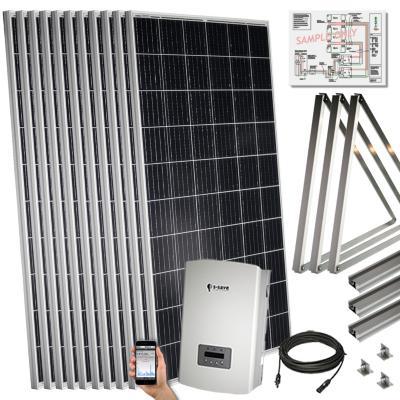 Kit solar 3 kwp para techo inclinado