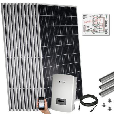 Kit solar 3 kwp para techo plano