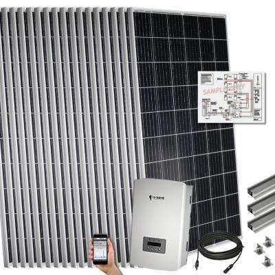 Kit solar 5,2 kwp para techo plano