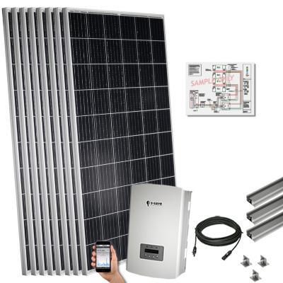 Kit solar 2,2 kwp para techo plano