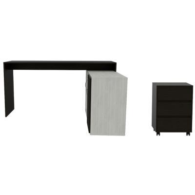 Set escritorio + cajonera wengue/artiko