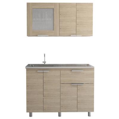 Kit cocina 2 muebles oak/blanco
