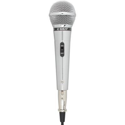 Micrófono vocal alámbrico cromo